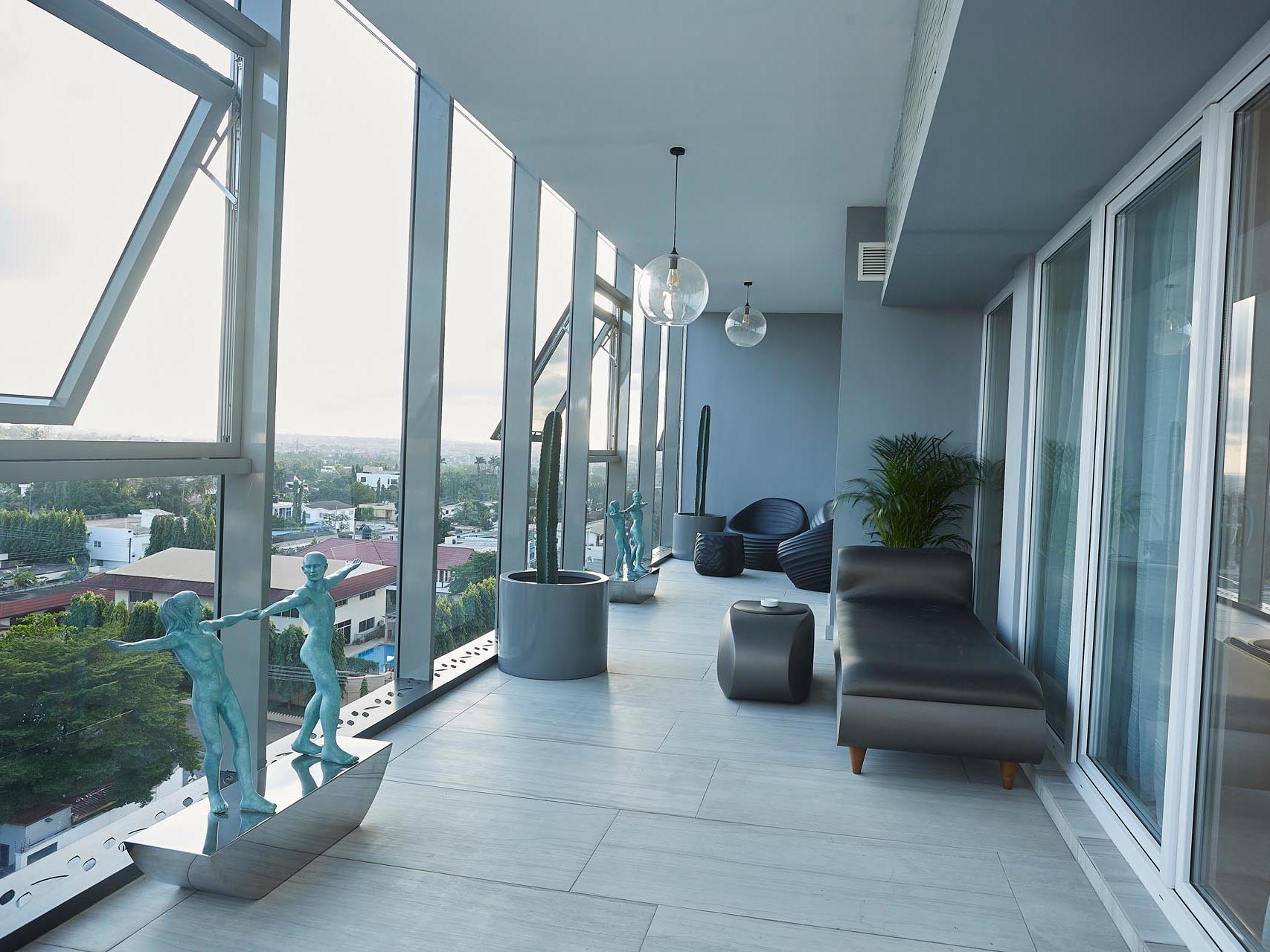Three bedroom presidential penthouse suite at Kwarleyz Residence in Accra