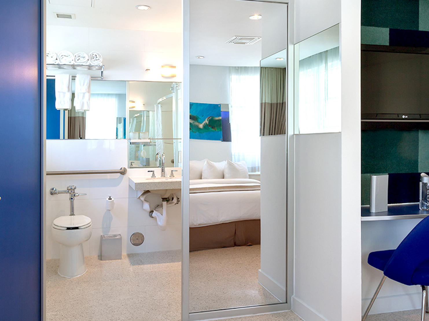 Bathroom at Classic Rooms Queen room in Clevelander South Beach
