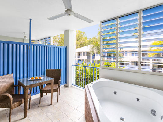 Oaks Lagoons Port Douglas Hotels Spa Balcony at Silkari Hotels