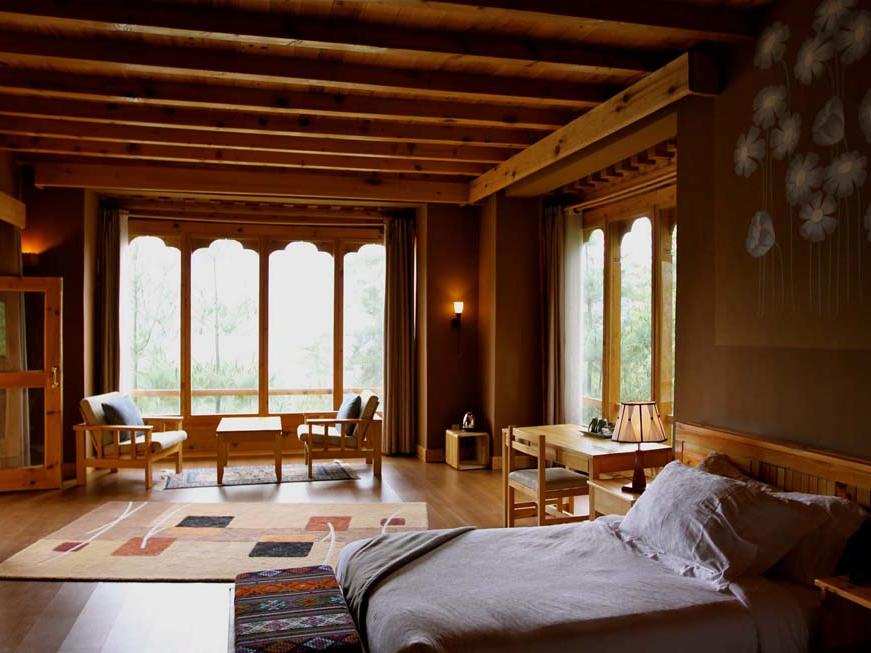 Deluxe Room at Naksel Boutique Hotel Spa in Paro. Bhutan