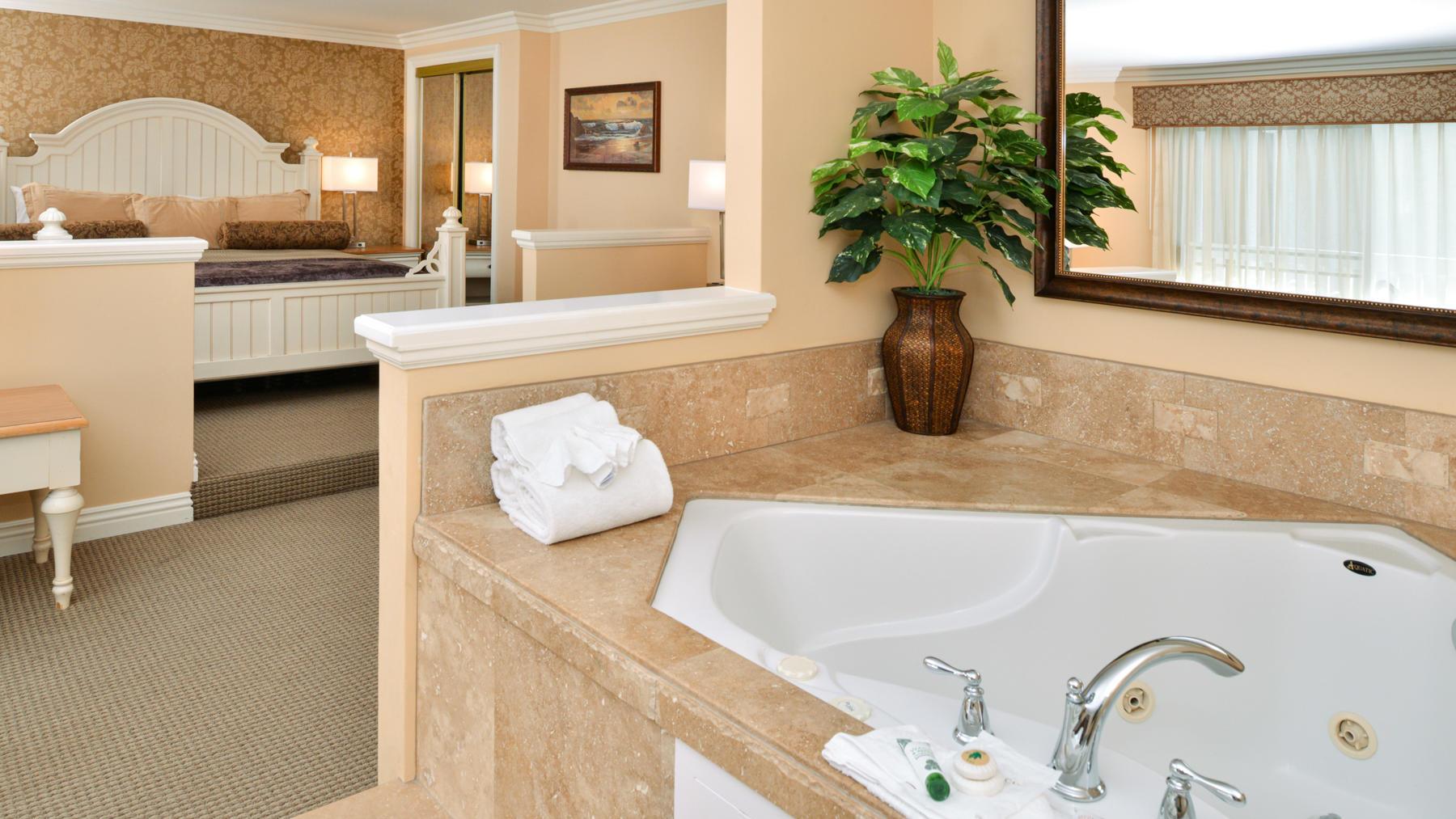 Honeymoon Suite in room spa tub