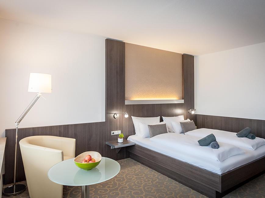 Comfort room at Hotel Frankenland in Bad Kissingen, Germany