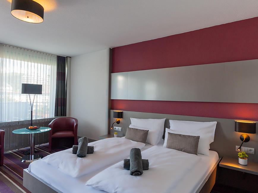 Superior Room at Hotel Frankenland in Bad Kissingen, Germany