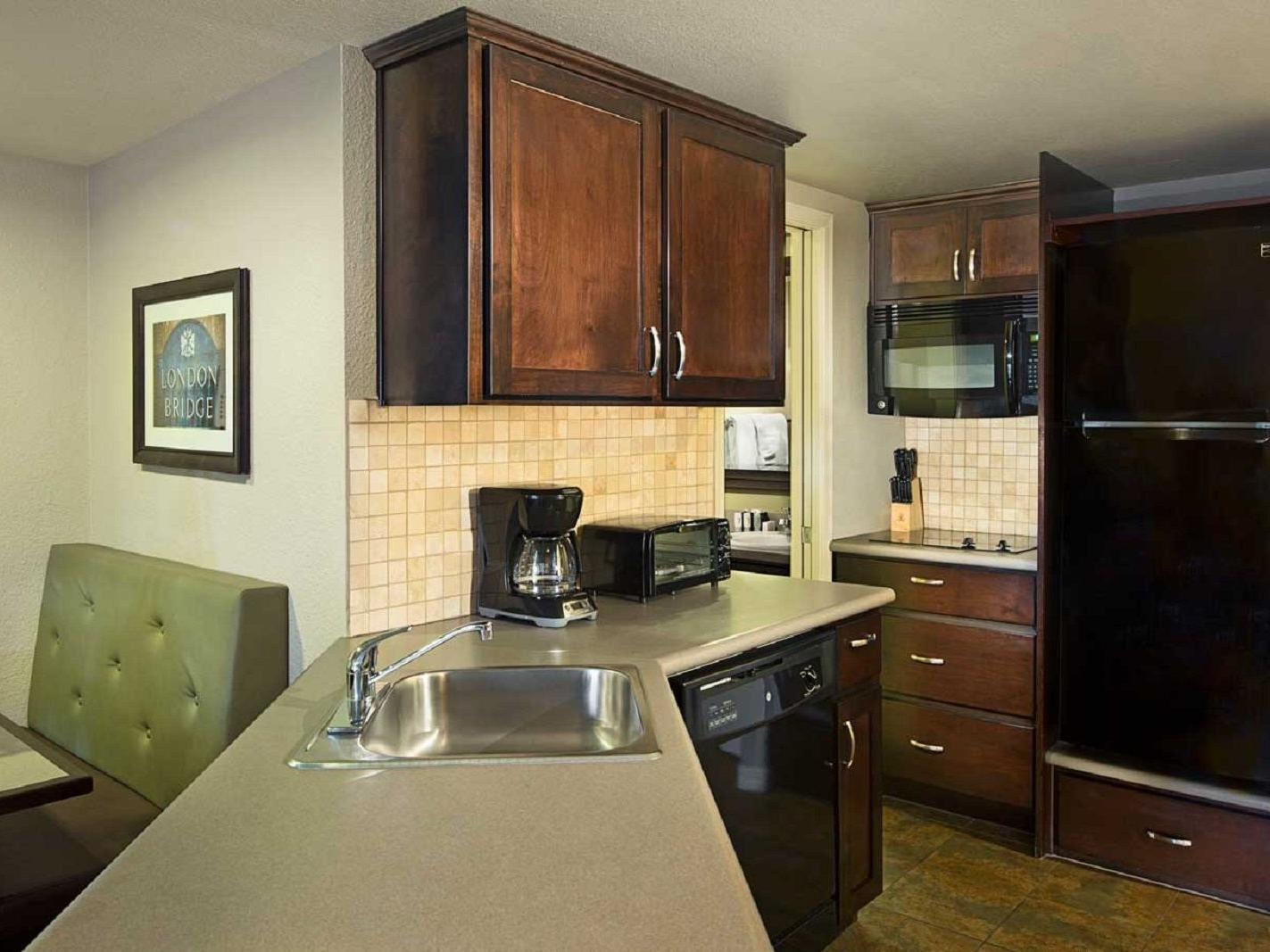 Kitchenette in resort suite.