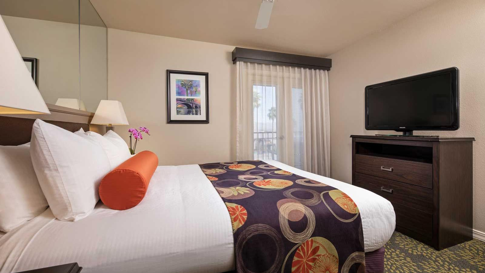 Resort suite with one bed.