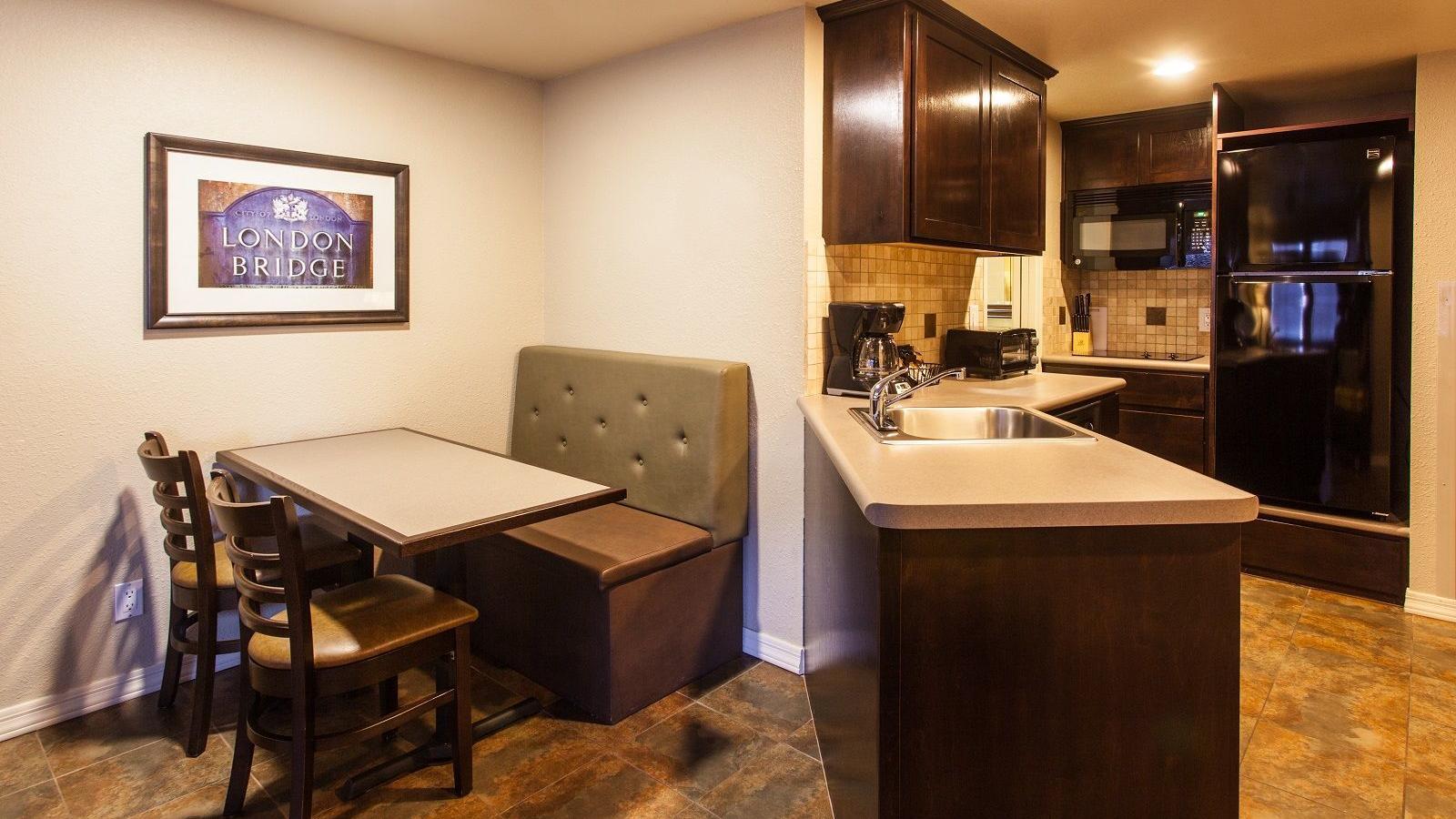 Kitchenette in resort suite.