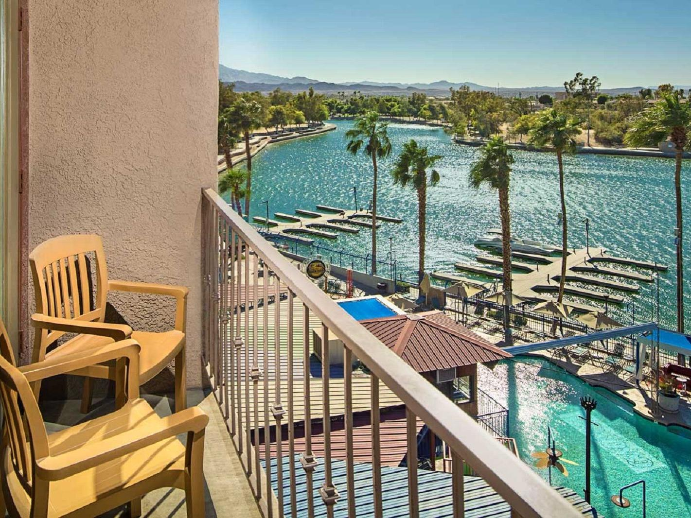 Balcony view of Lake Havasu.