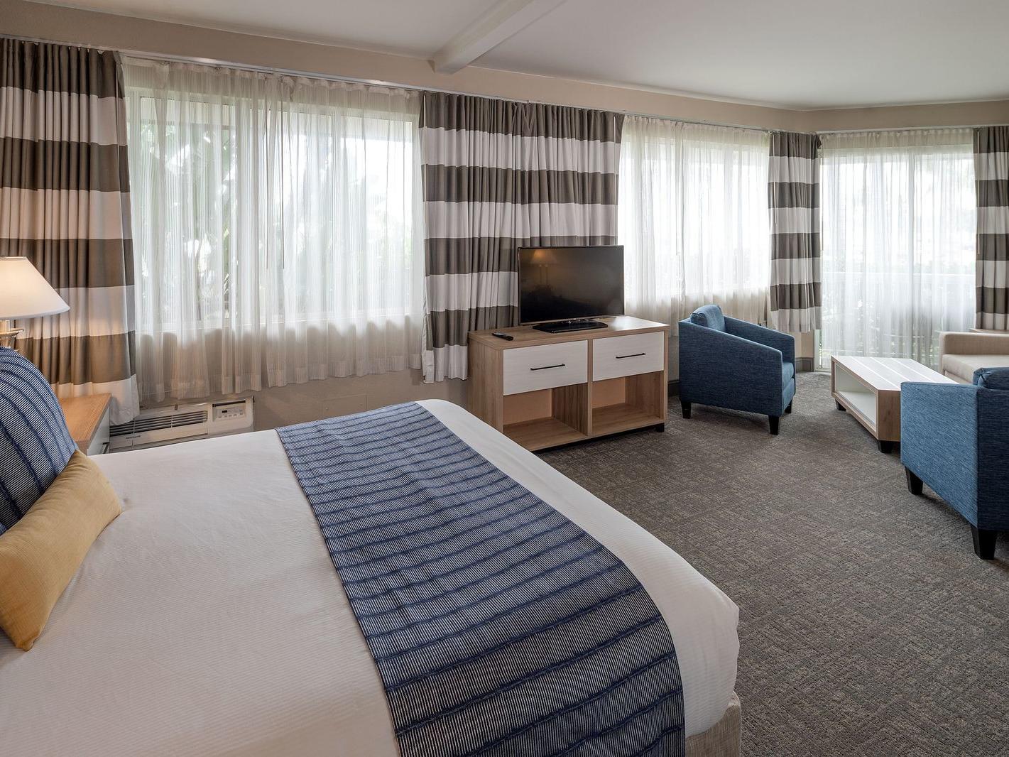Partial View Executive Suite bedroom area at Bay Club Hotel