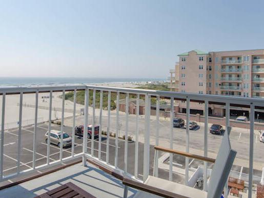 balcony with beach view