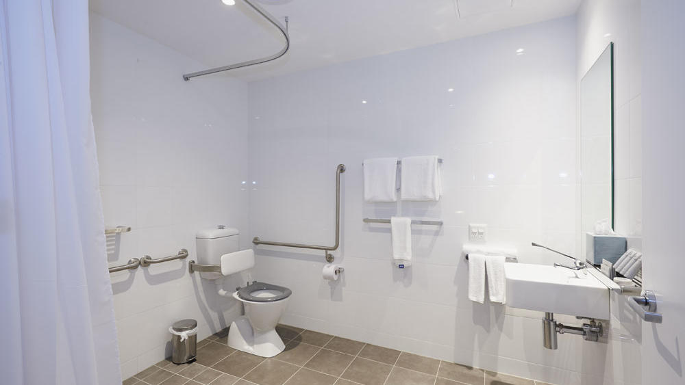 Bathroom Accessible Studio at Silkari Suites Chatswood
