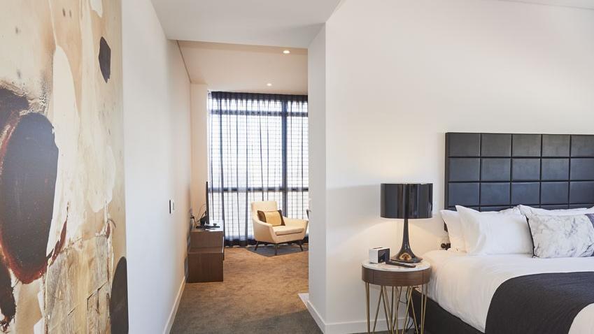 Bedroom Hallway at Silkari Hotel Port Douglas