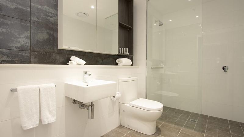 Bathroom at One Bedroom Suite Silkari Suites Chatswood