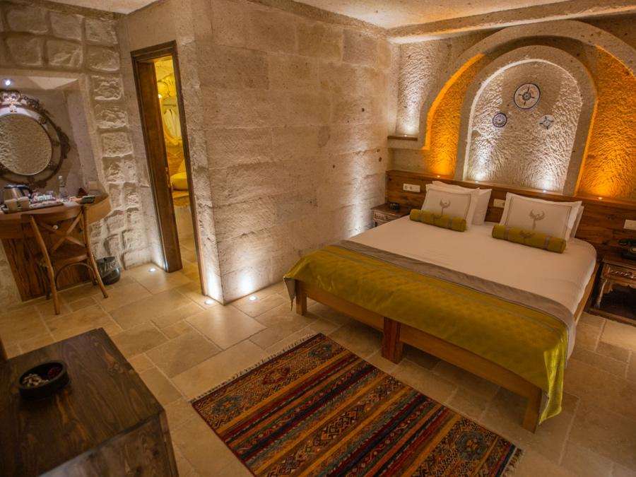 Deluxe Cave Room 201 at Anka Cave Suites in Cappadocia, Turkey