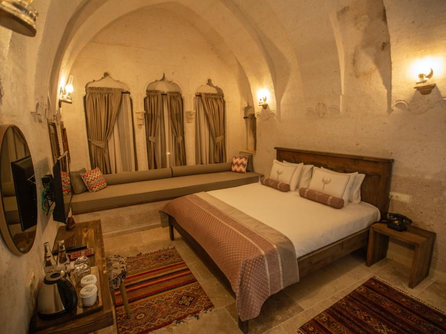 Deluxe Cave Room 202 at Anka Cave Suites in Cappadocia, Turkey