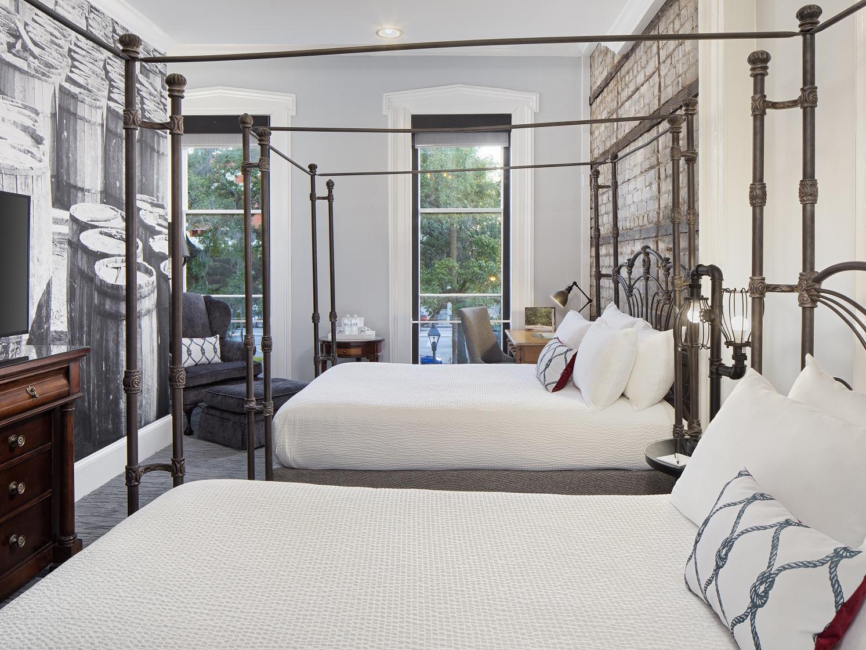 Side view of multiple bedroom  at River Street Inn