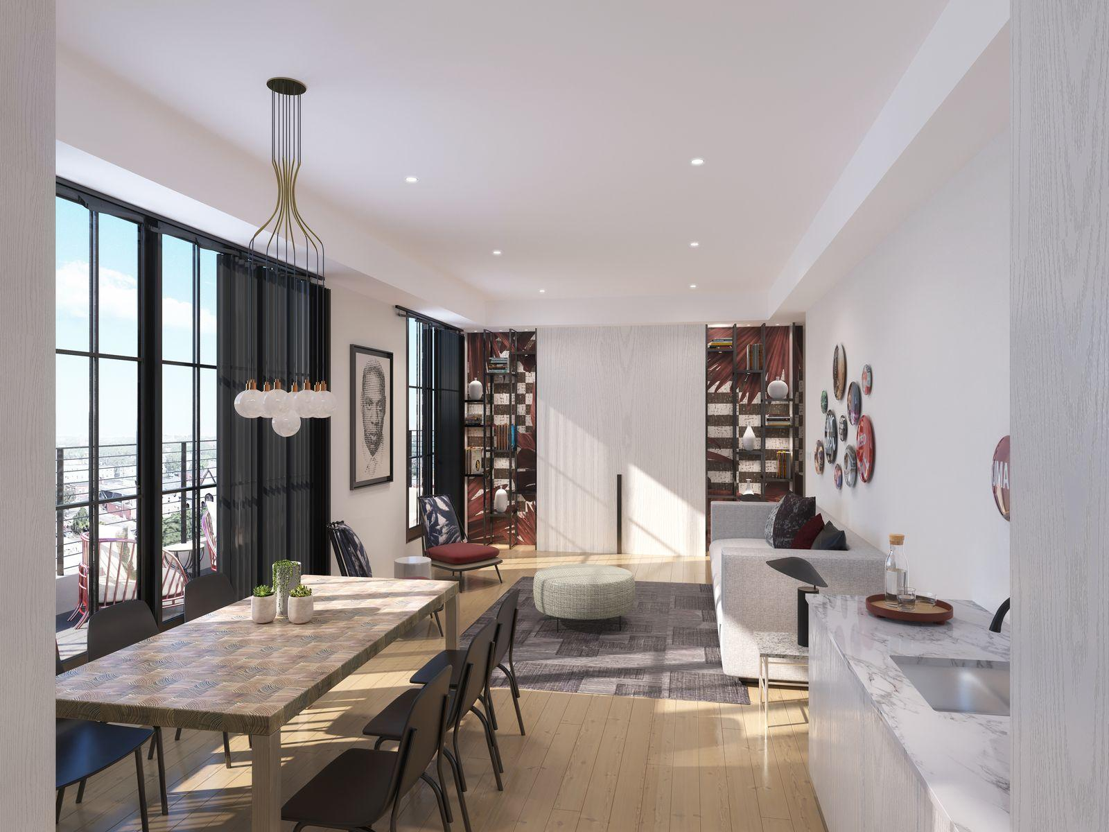 Penthouse Suite Living & Dining Area