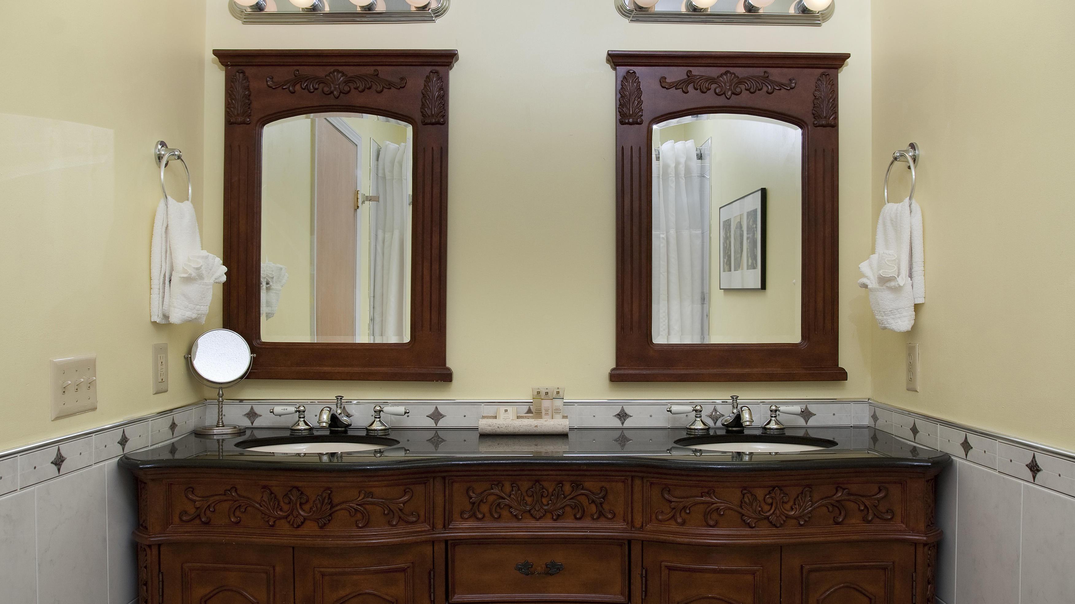 Double Sink Wooden Vanity - Bathroom
