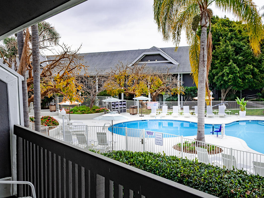 pool view from balcony hotel guest room carlsbad ca