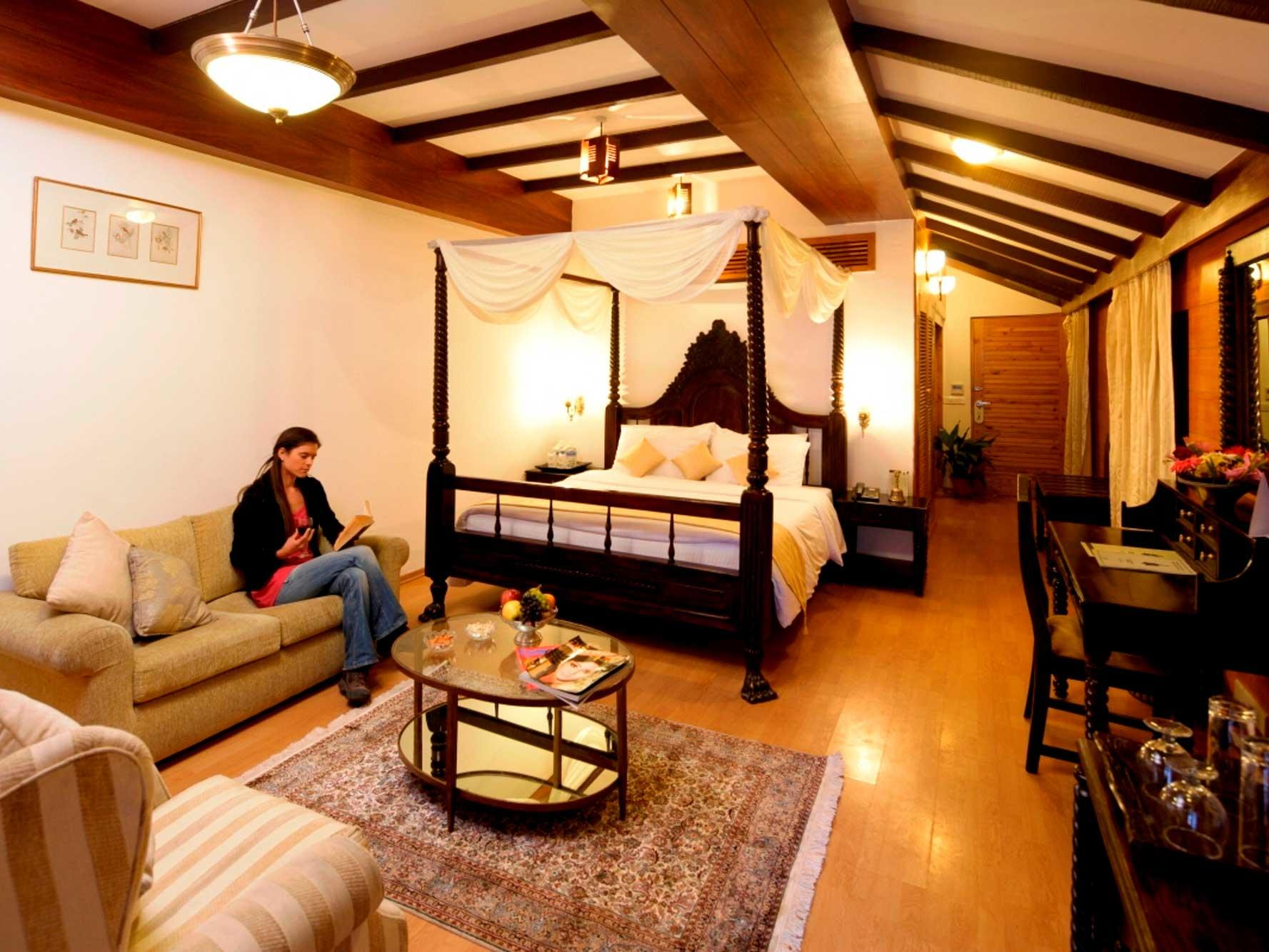 Deluxe Room at ManuAllaya Resort Spa Manali in Himachal Pradesh, India