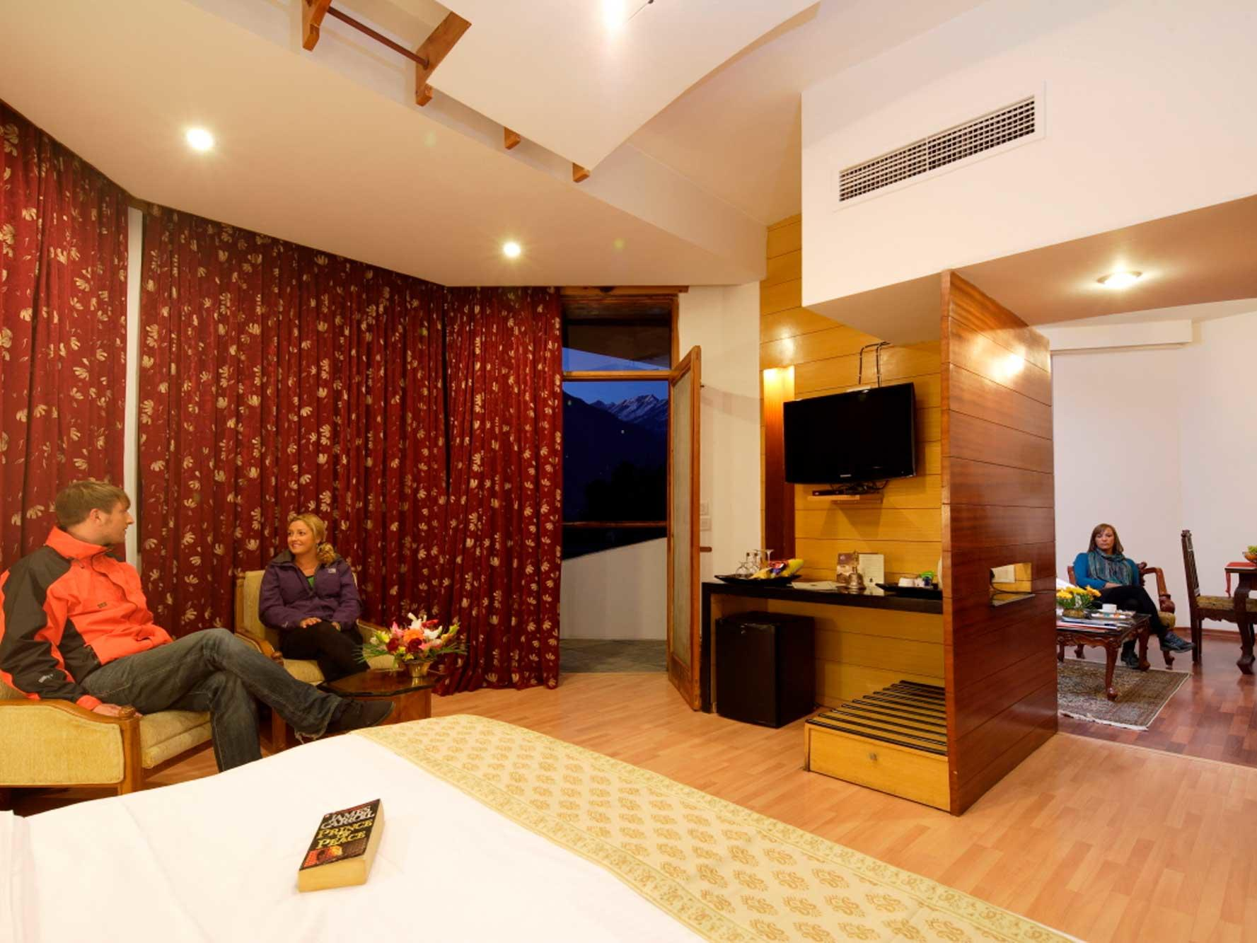 Deluxe Suite at ManuAllaya Resort Spa Manali in Himachal Pradesh, India