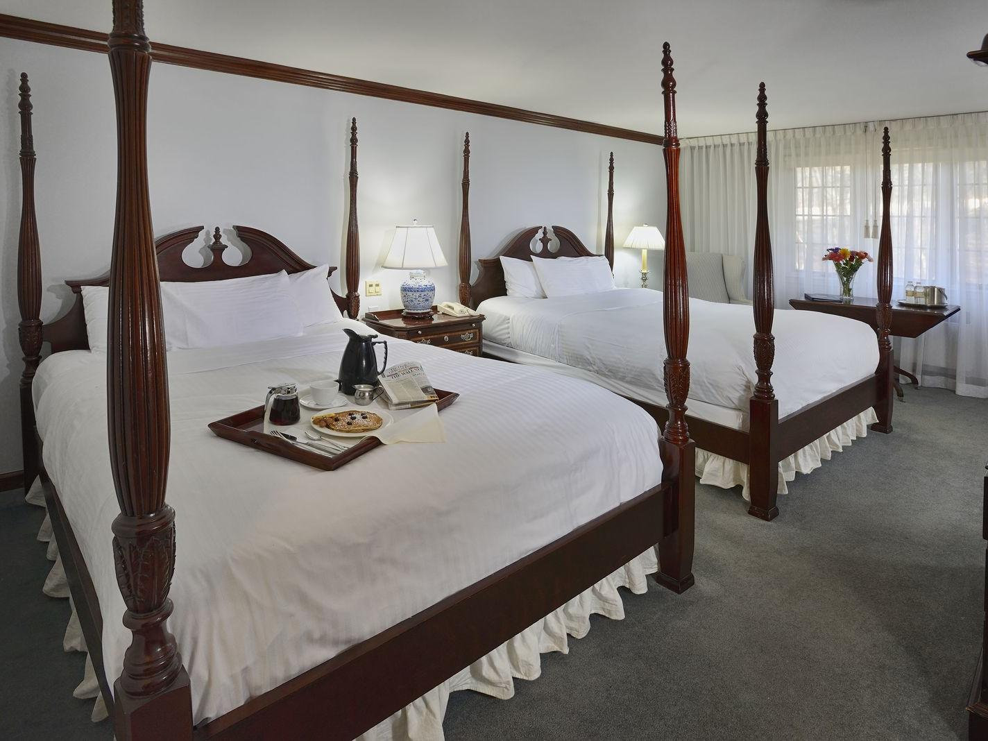 Twin beds in Traditional Queen at Avon Old Farms Hotel