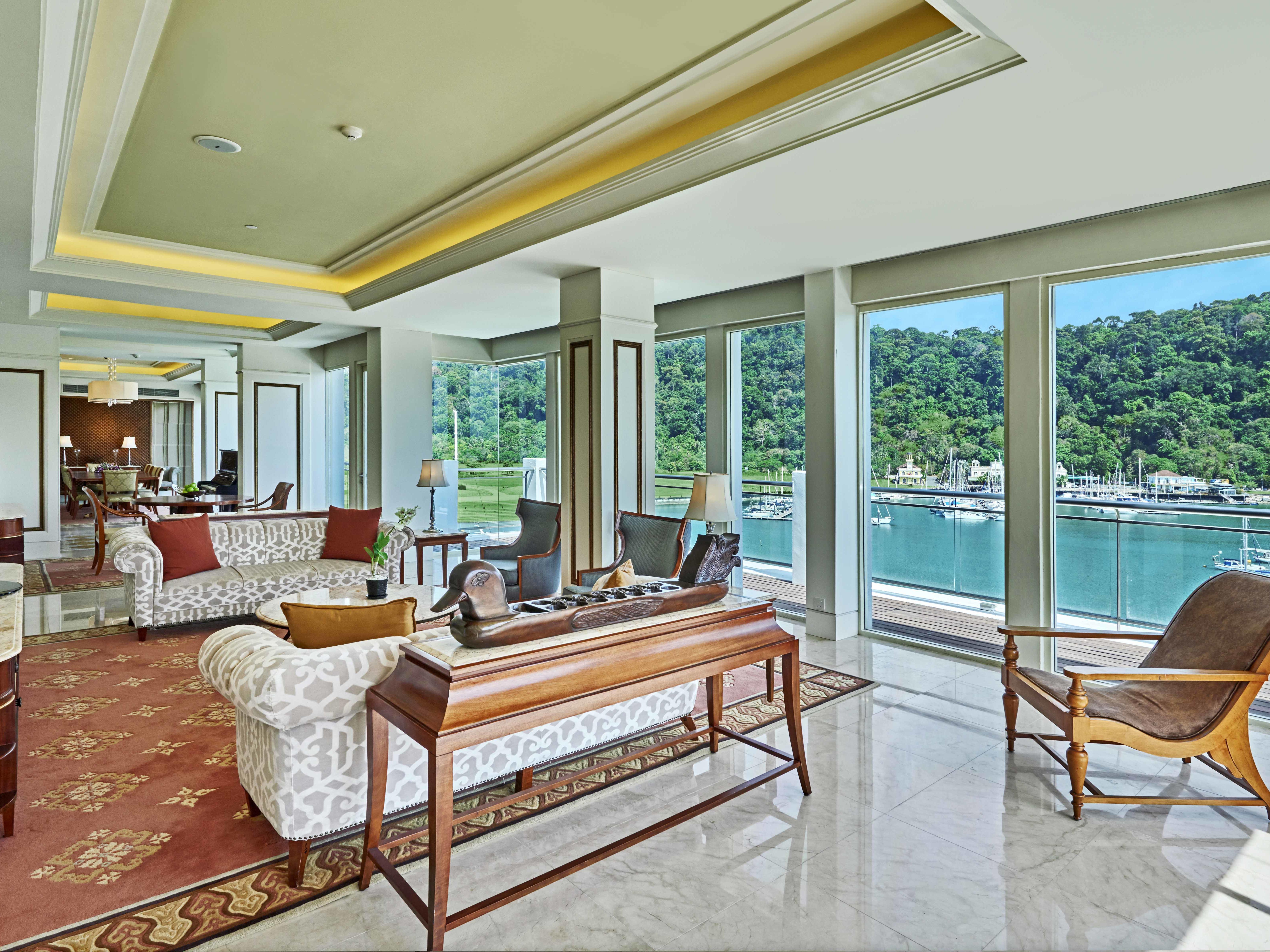 Royal Imperial Suite Living Area at Danna Langkawi