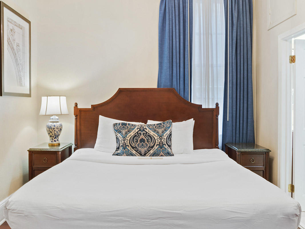Petite Room with one queen bed at Andrew Jackson Hotel