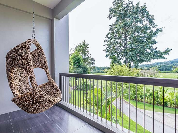 Triple mountain view room at Golf Resort Soi Dao Chanthaburi