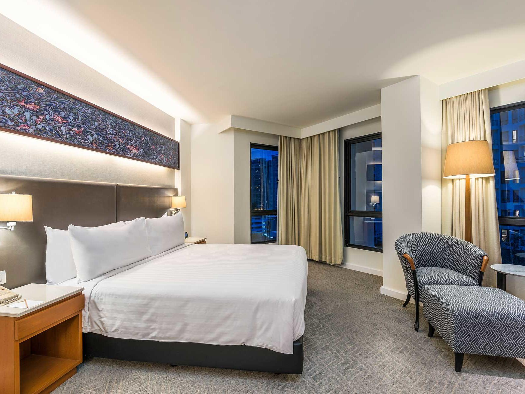 View of deluxe one bedroom suite at Chatrium Residence Sathon