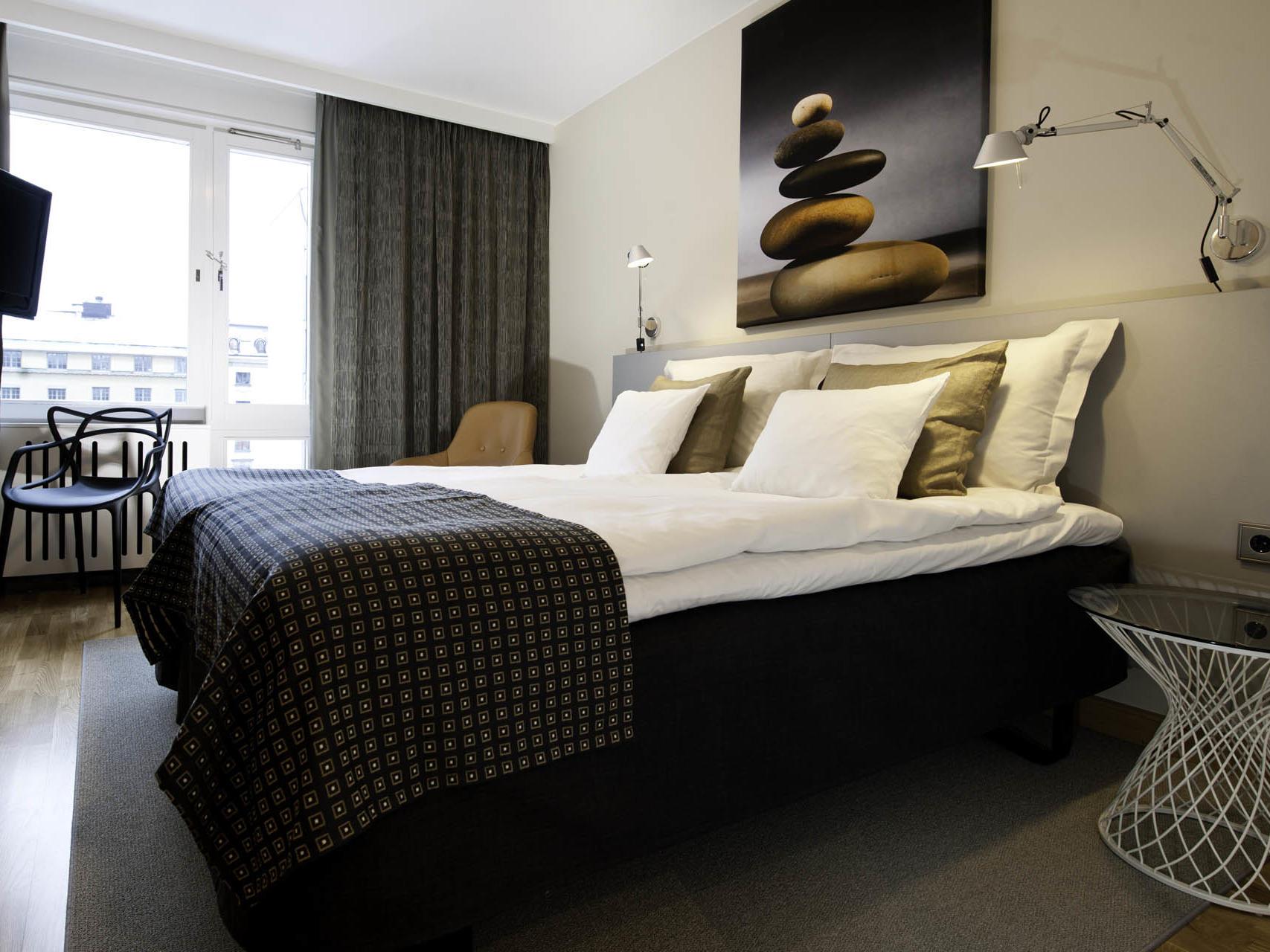 Double Standard Room at Hotel Birger Jarl in Stockholm, Sweden