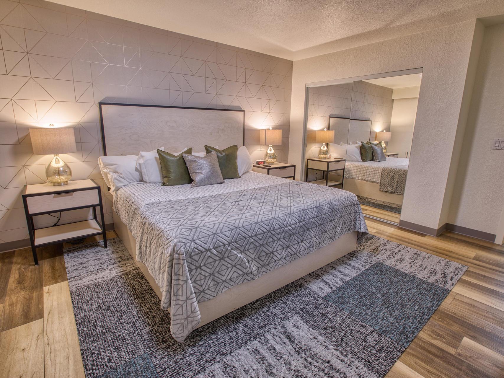 View of the elegant deluxe king suite room at Wedgewood Resort
