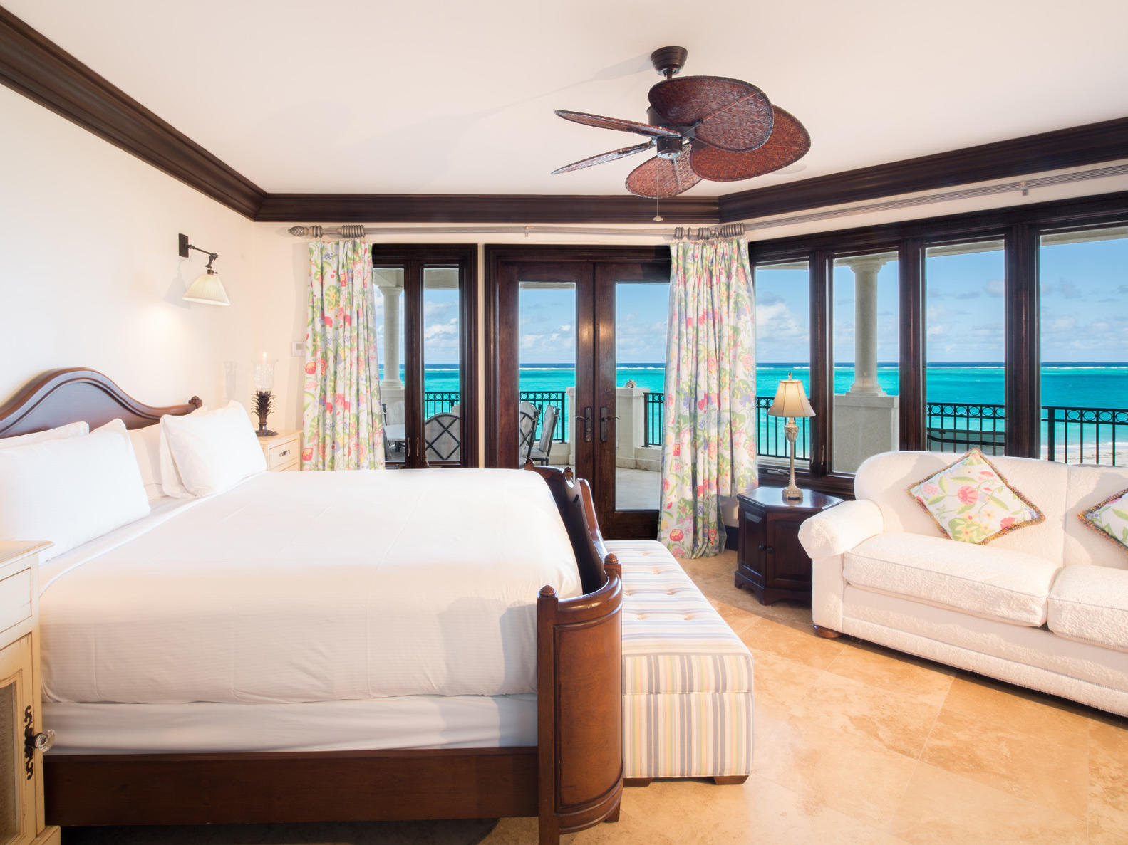 5 Bedroom Ocean Front Penthouse room at Somerset On Grace Bay