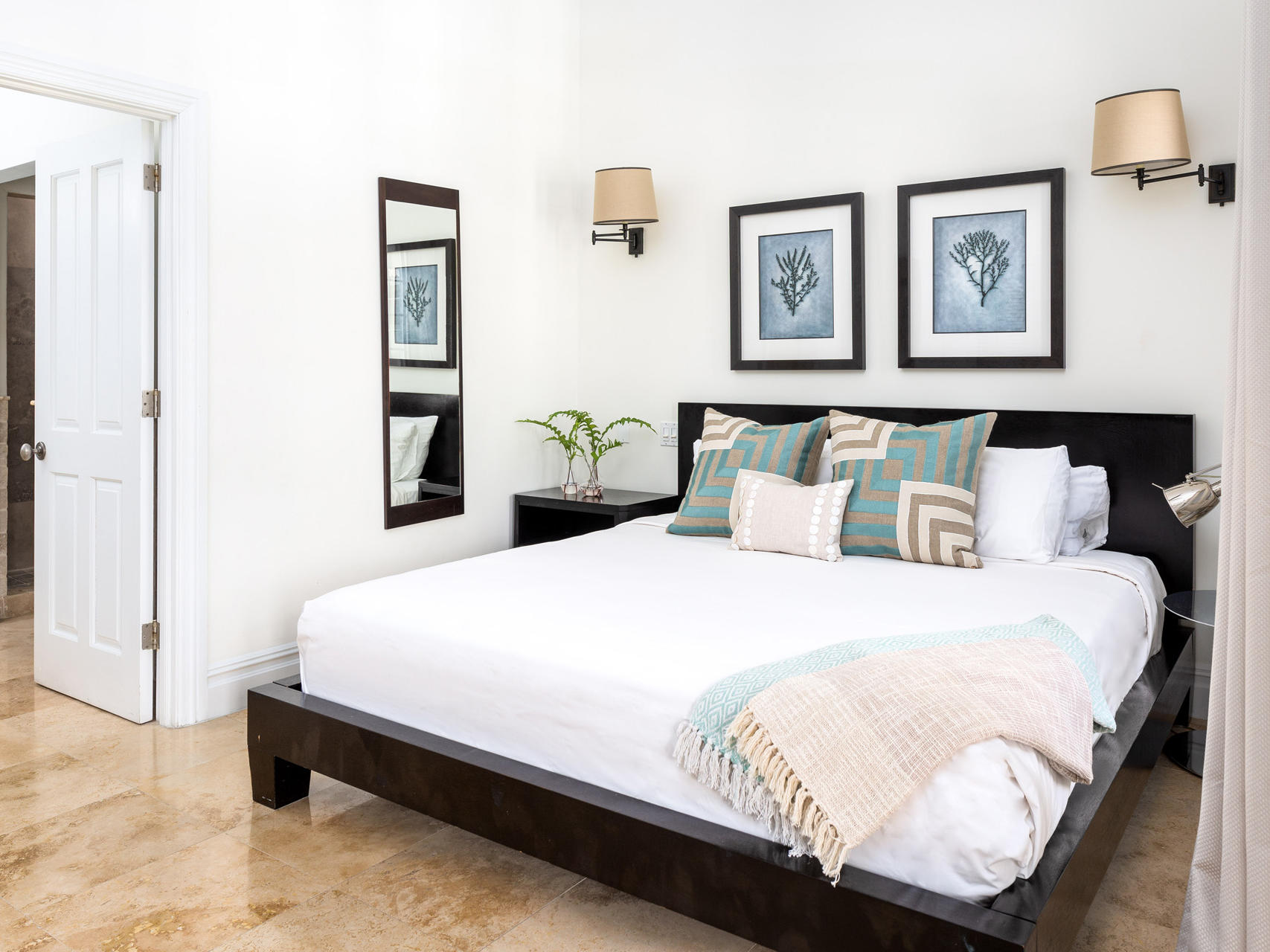King bed in Two Bedroom at Somerset On Grace Bay