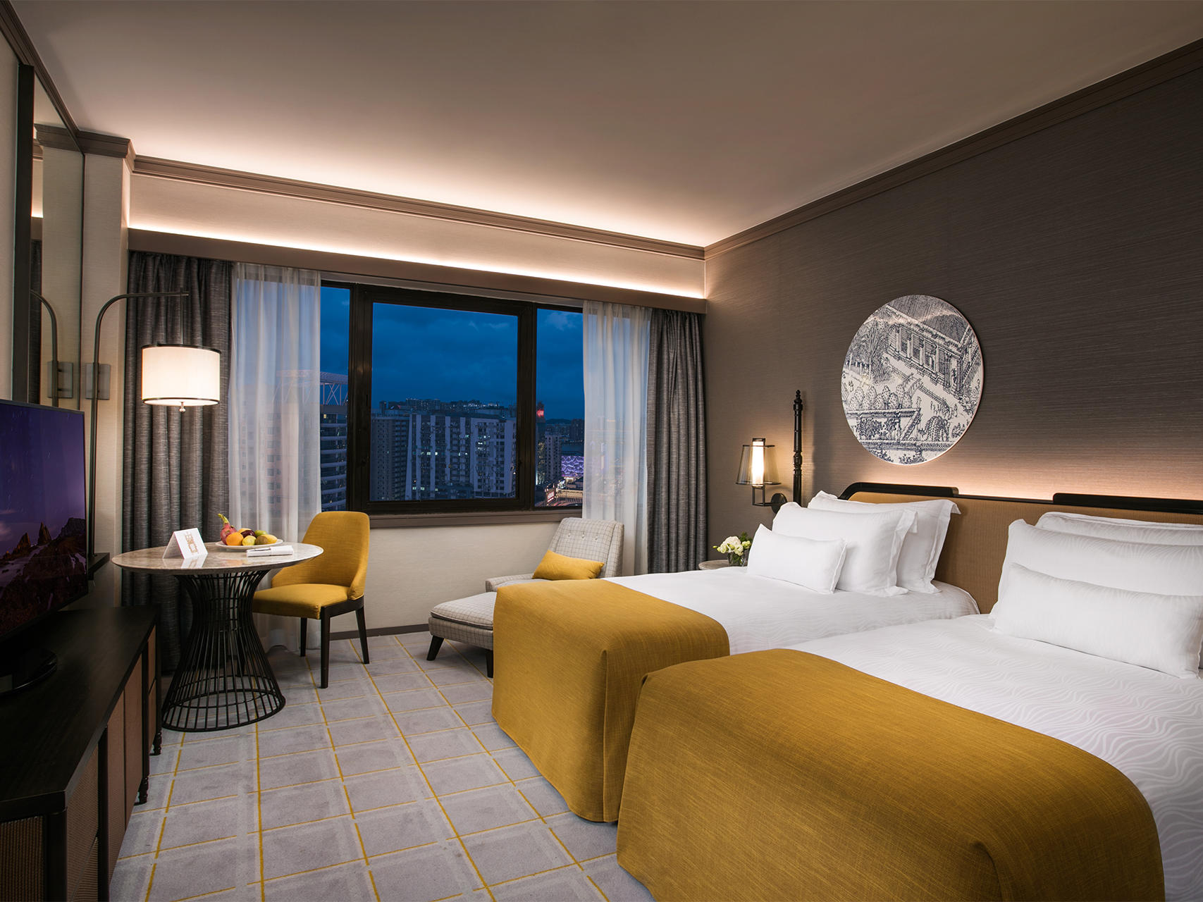 Grand Twin room at Artyzen Grand Lapa Hotel Macau