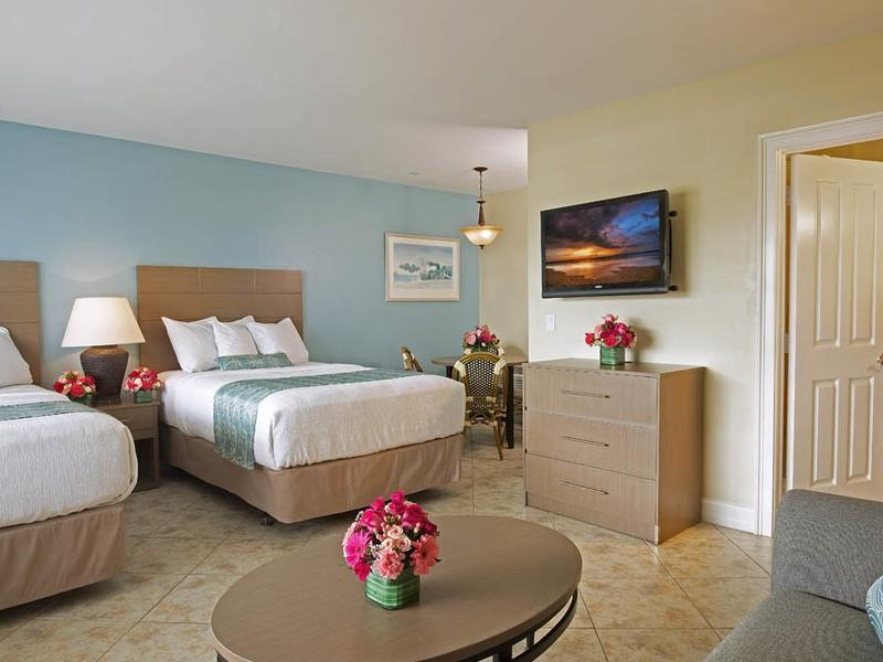 double bed room with living