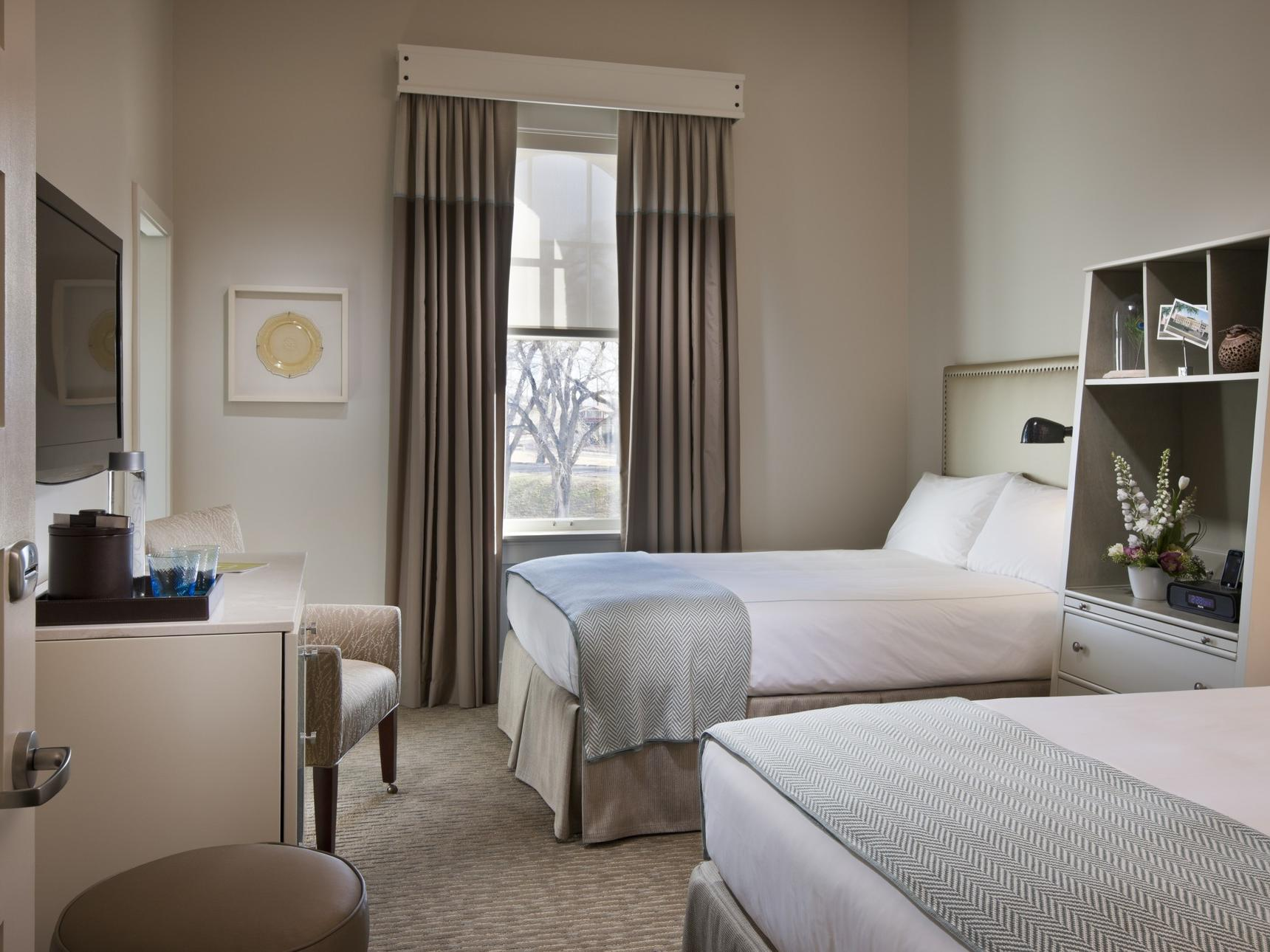 Two beds in hotel room