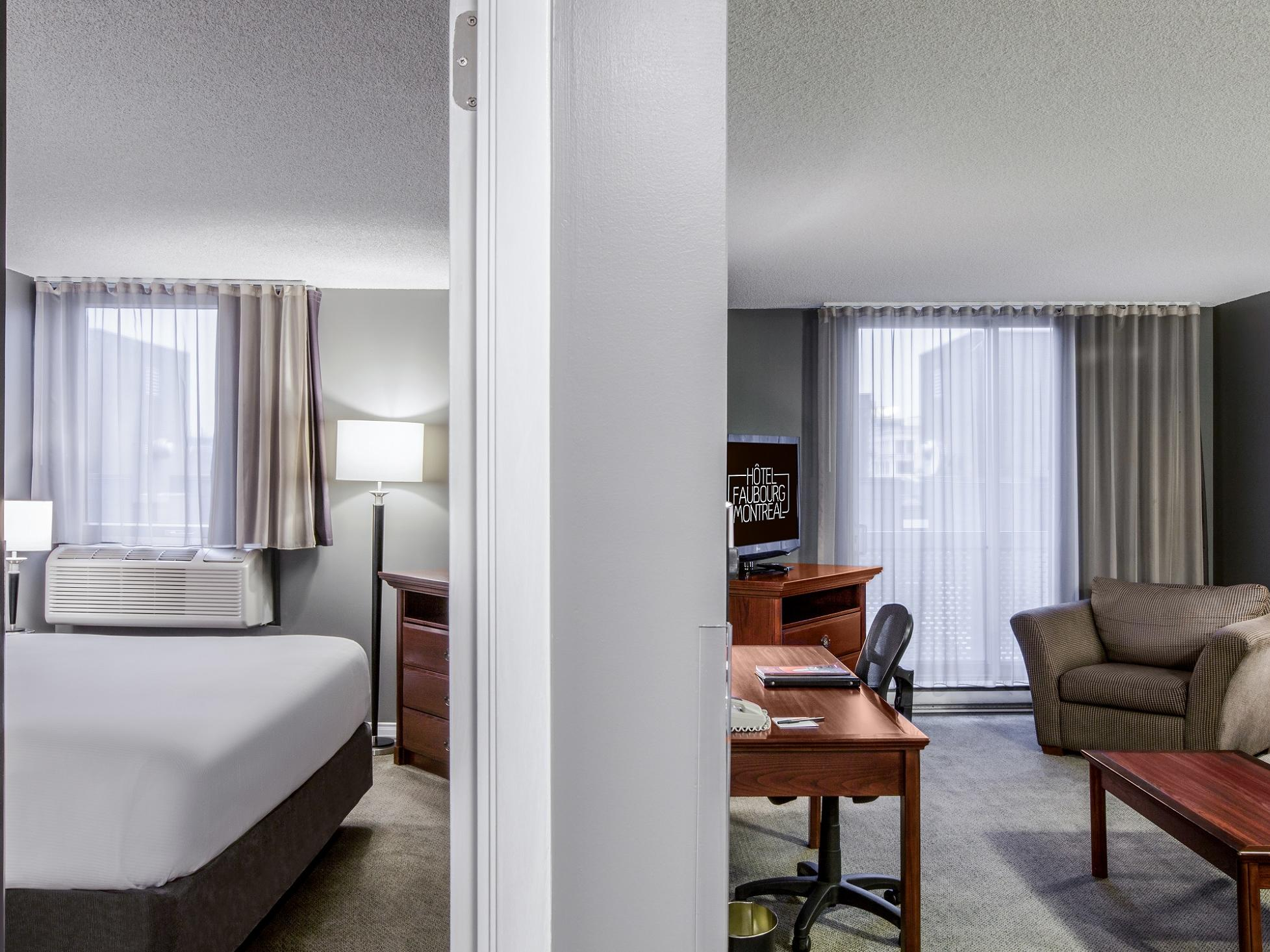 One Queen Suite with Balcony at Hotel Faubourg Montreal