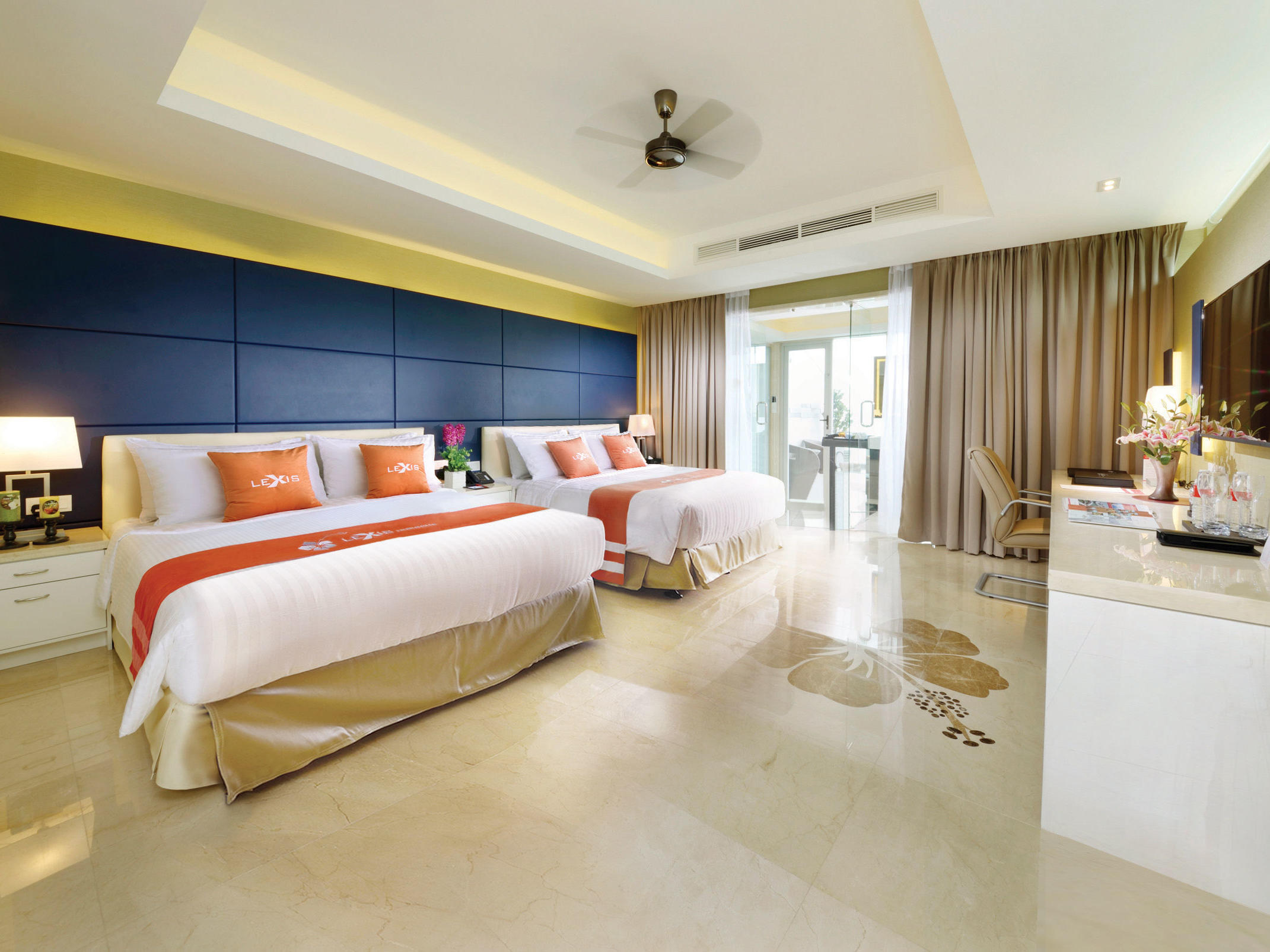 Executive Pool Villa room with two king size bed - Lexis Hibiscus® Port Dickson