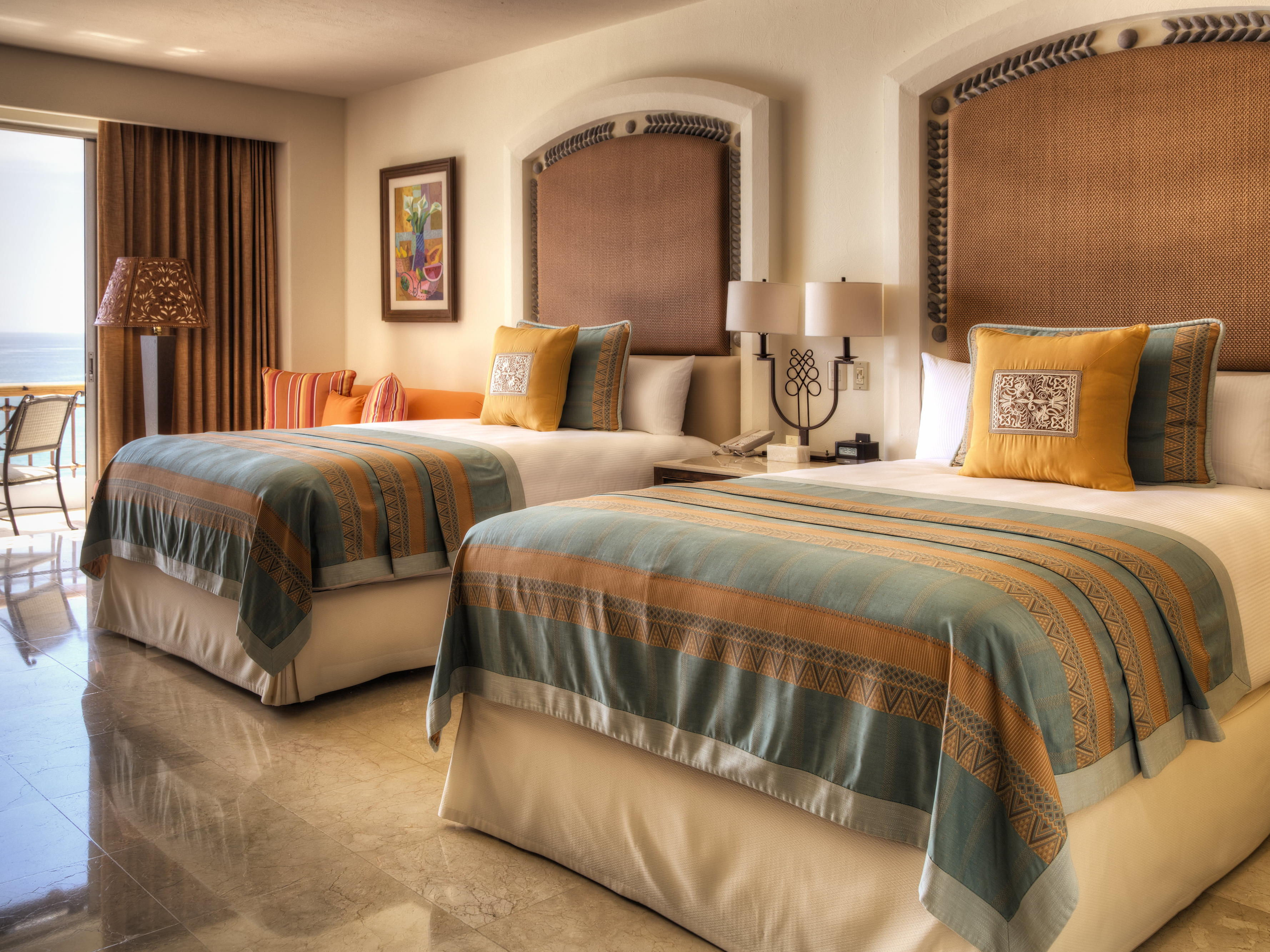 Two beds in a hotel room - Marquis Los Cabos