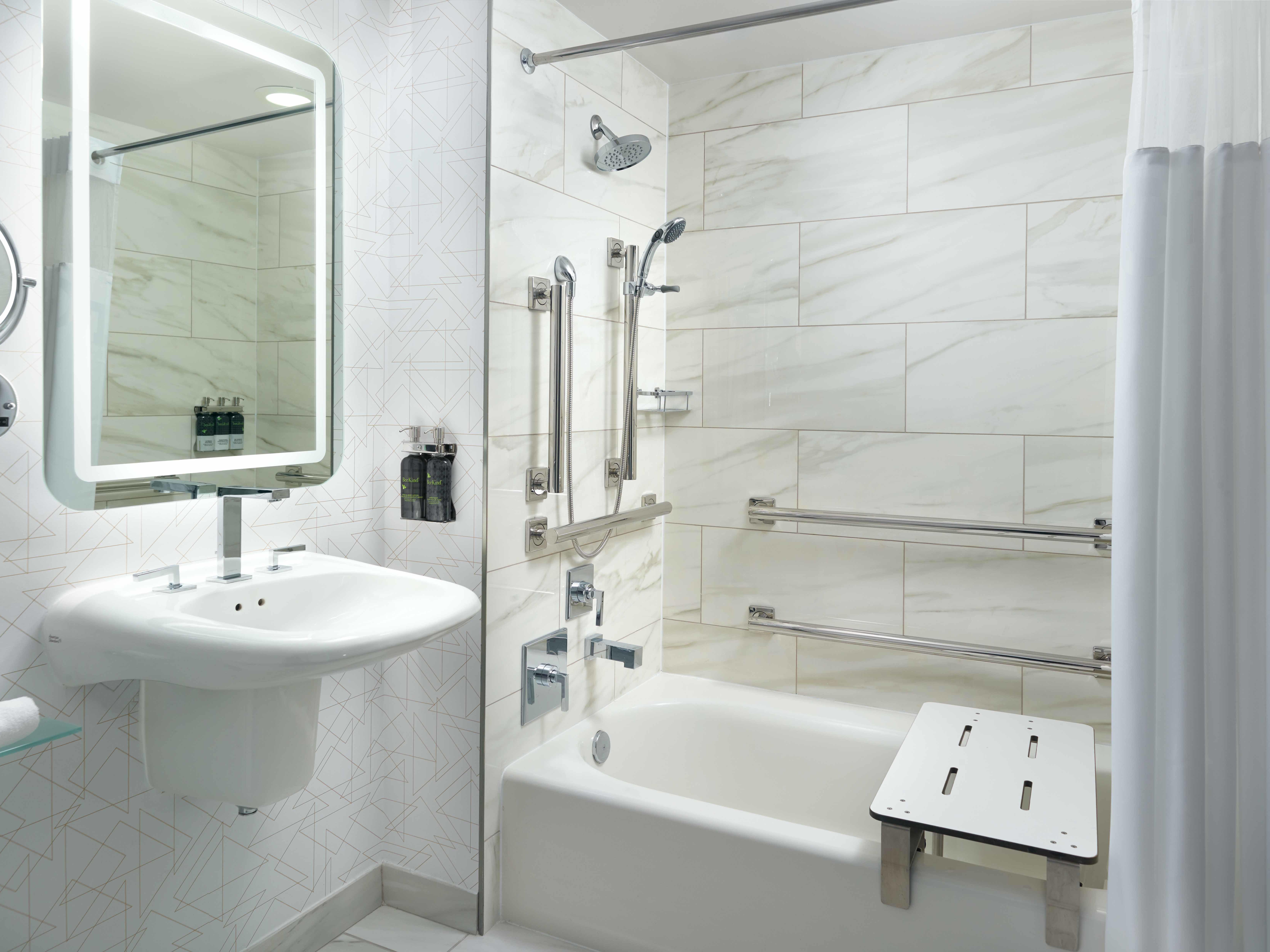 Georgia Tech Hotel Accessible Bathroom
