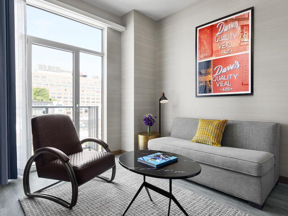 Gansevoort suite living room