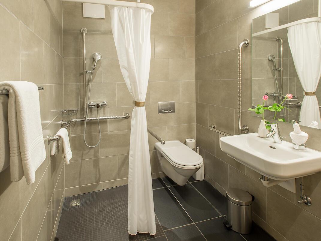 Handicap friendly rooms at Hotel Krone Unterstrass in Zurich