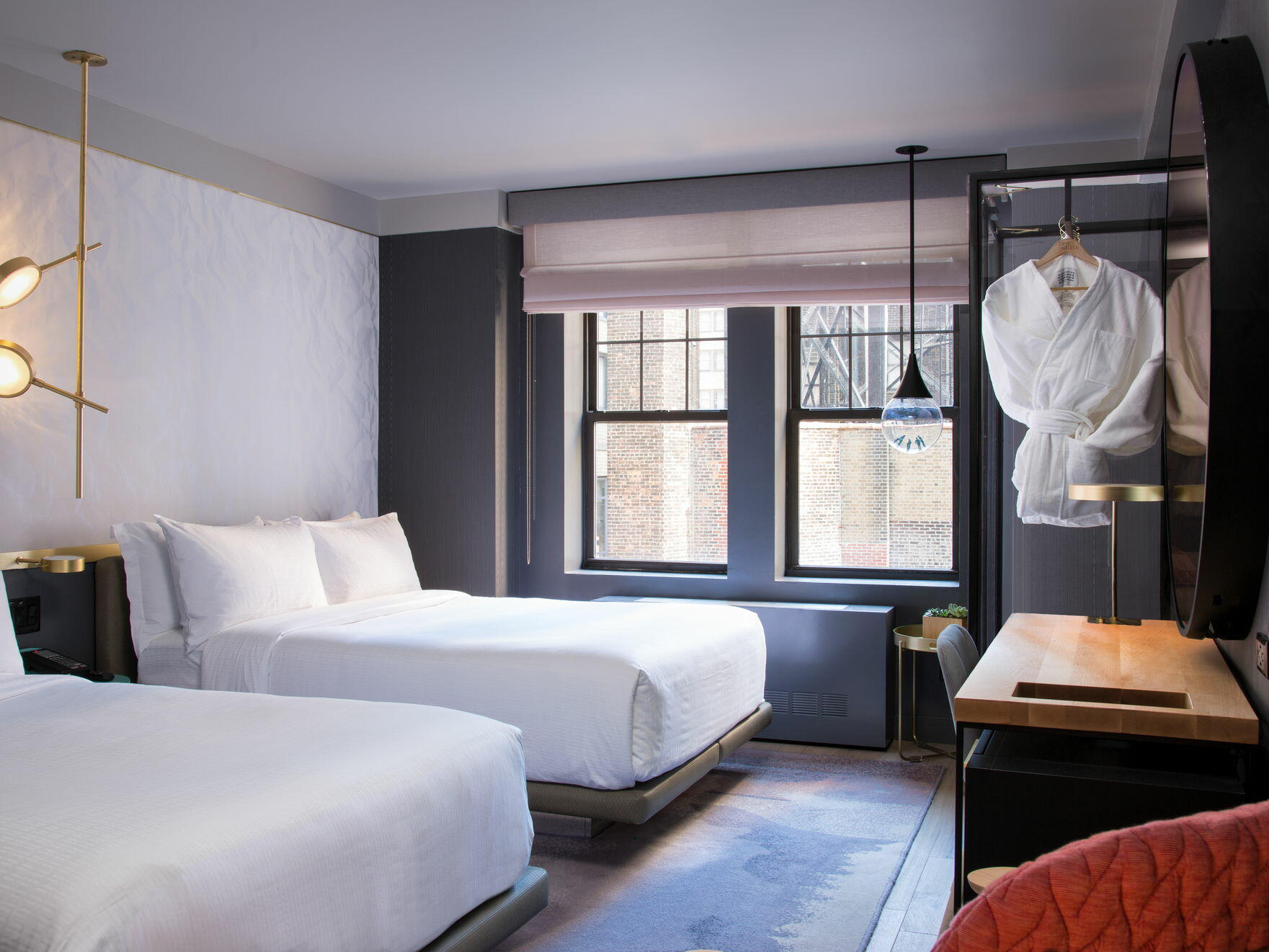Deluxe Double Double bedroom 2 king beds at The Time New York