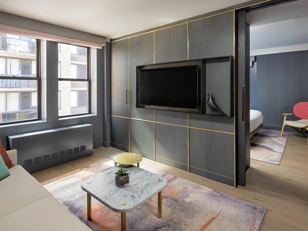 Separate living room in Superior Suite at The Time New York