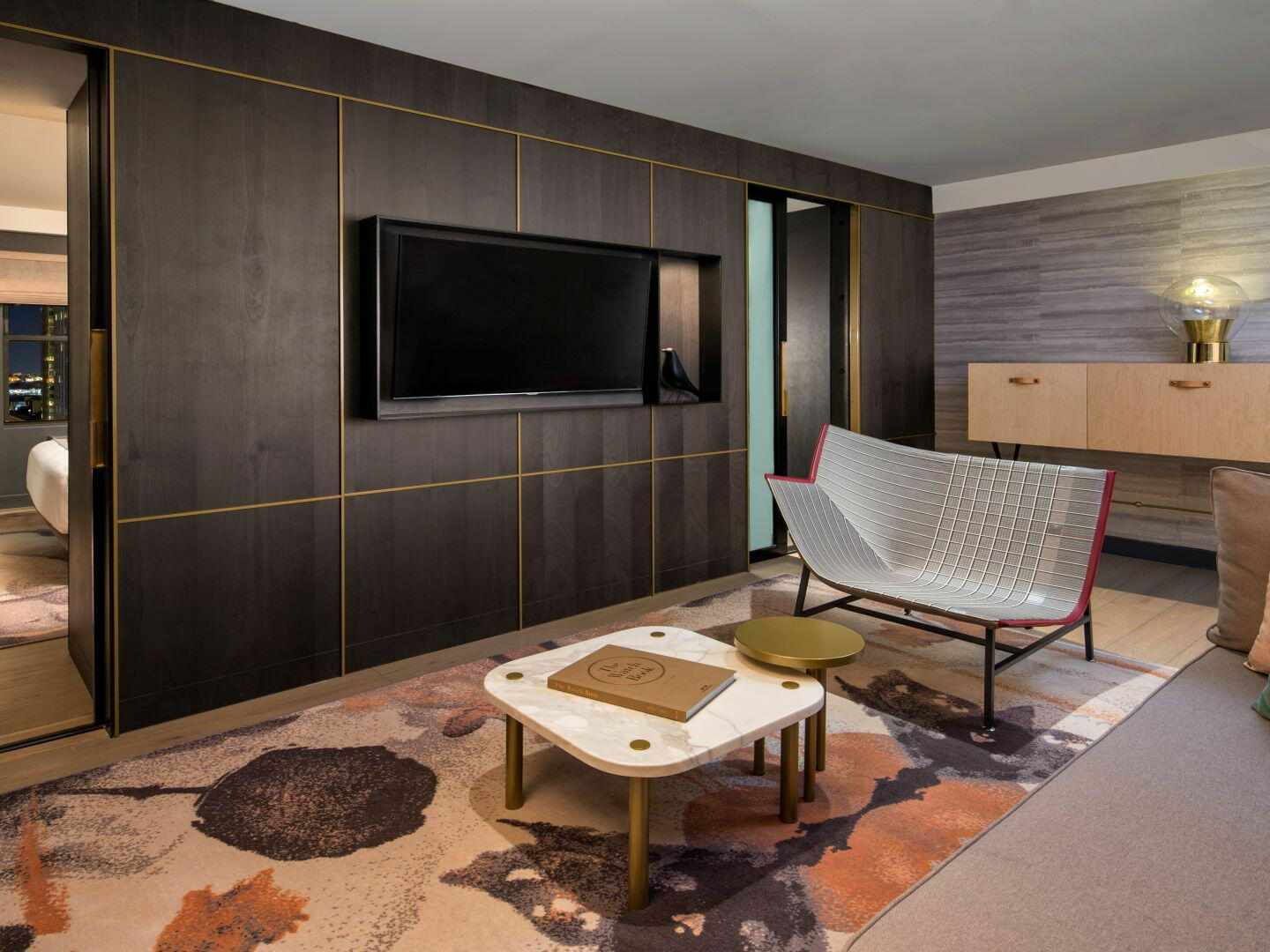 Separate living room in Deluxe Suite at The Time New York