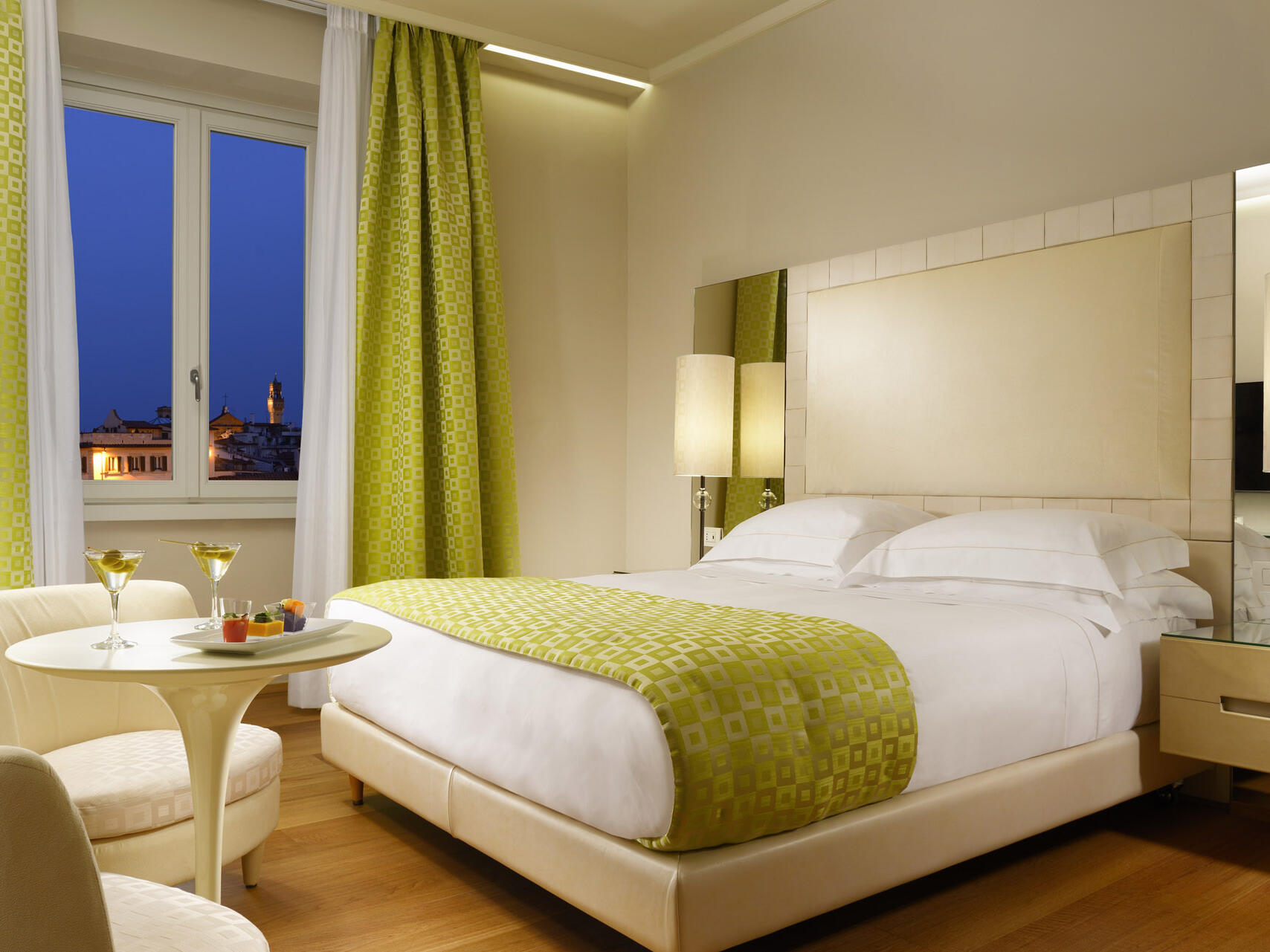 Luxury bedroom at Grand Hotel Minerva
