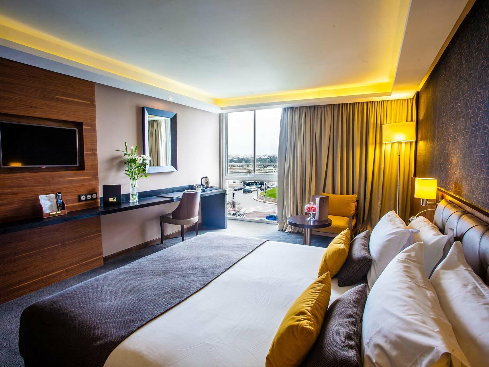 Comfy Bedroom - Farah Rabat Hotel