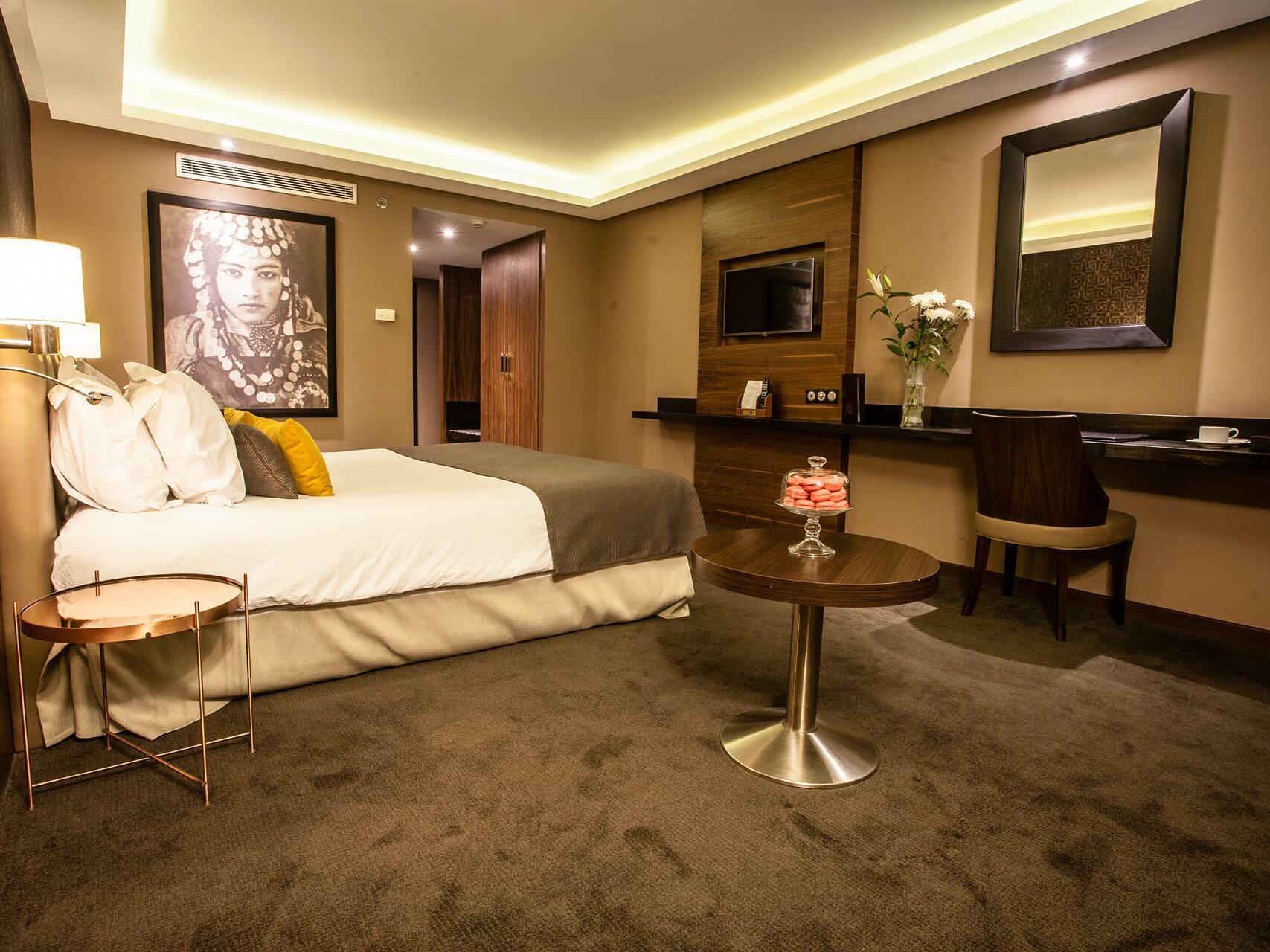 Interior View of the Bedroom - Farah Rabat Hotel