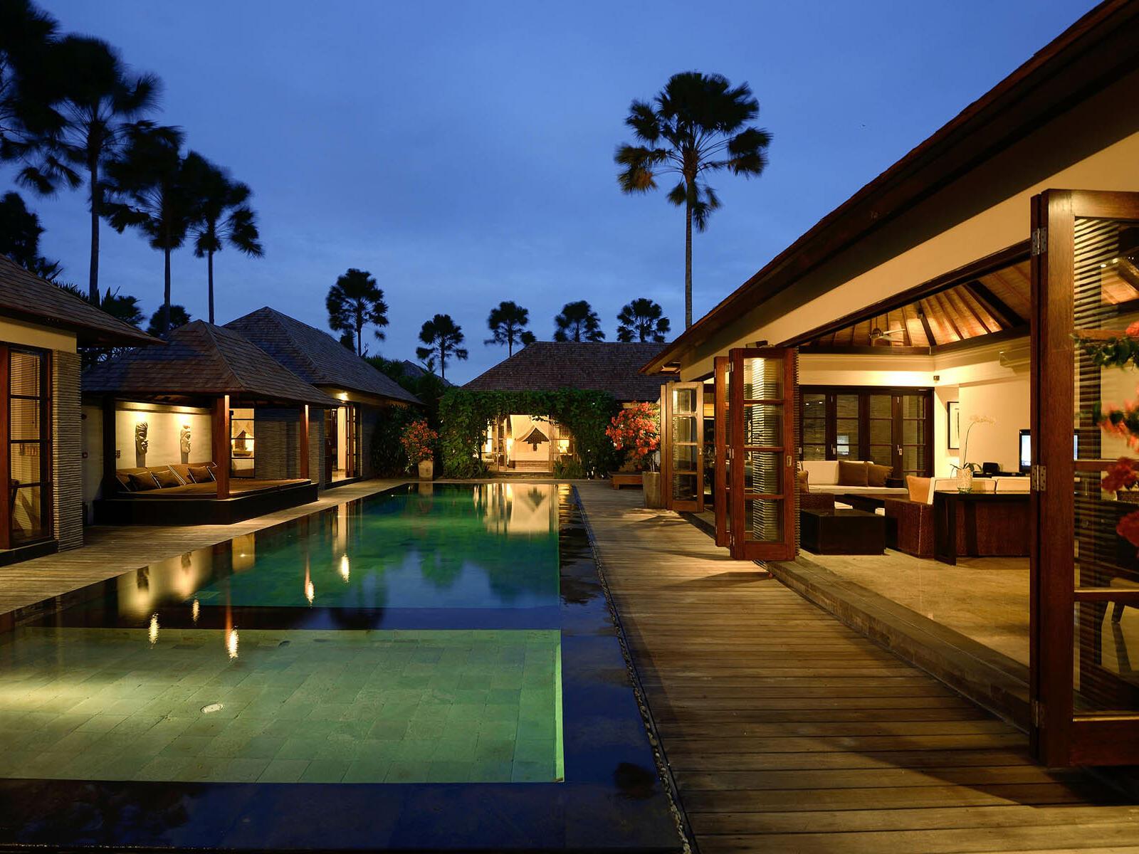 View of Four Bedroom Presidential Pool Villa Peppers Seminyak