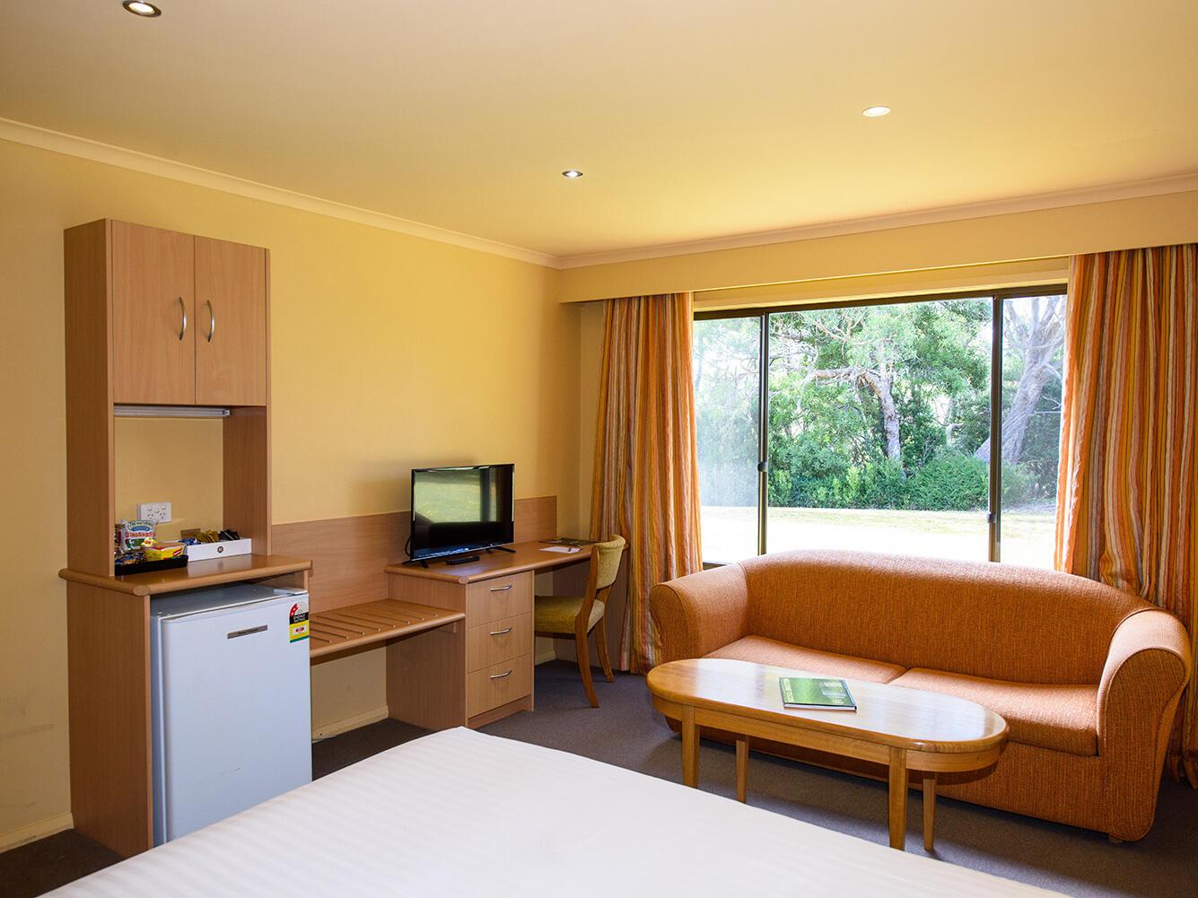 Furniture at Hilltop Standard Room in Strahan Village